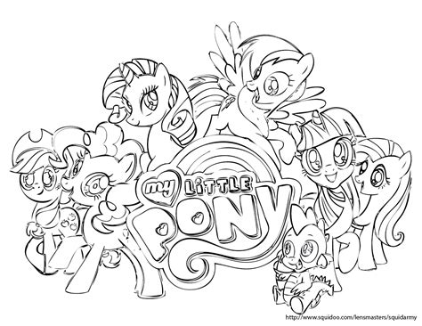 My Pony Coloring by My Pony Coloring Pages Squid Army