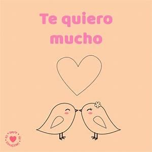 bonito dibujo de palomas con frase de amor