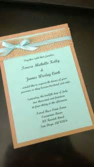 Tiffany Blue and Burlap Wedding Invitations