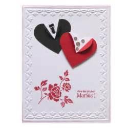carte felicitations mariage carte félicitations mariage coeurs en tenue de mariés collection fannyscrap lovely carte