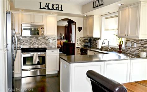 Oak Kitchen Remodel  Painted Cream Cabinets And Quartz. Kitchen Window Ideas Blinds. Dark Green Kitchen Units. Kitchen Living Room Extensions. Kitchen Sink Grey Water. Kitchen Desk File Drawer. Small Kitchen Garbage Cans With Lids. Kitchen Diner Different Floors. Decorating Your Kitchen Island