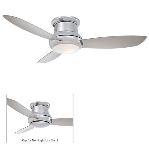 44 ceiling fan with light minka aire f518 pn concept ii polished nickel 44 quot ceiling
