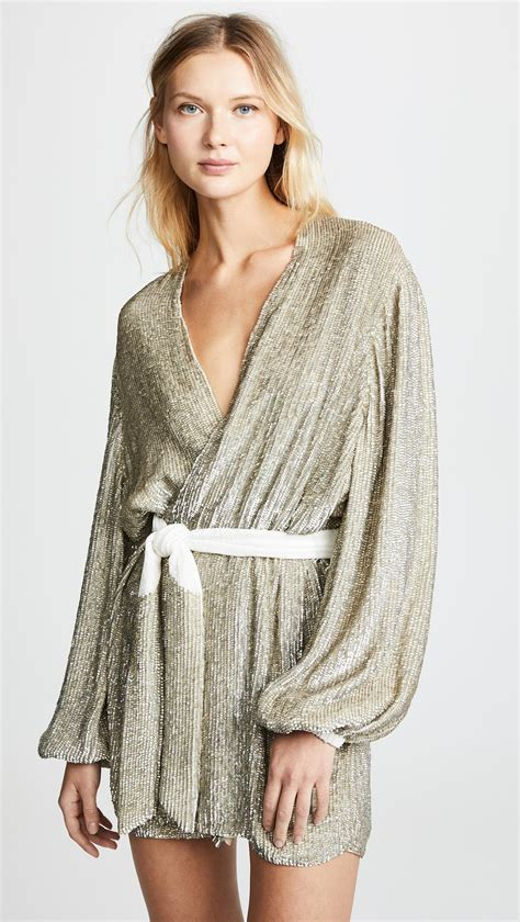 Retrofete Gabrielle Robe Dress Champagne Size 8 | The Volte