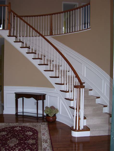 Ideas For Stairs by Wainscoting Along Curved Stairs Wainscotting Design