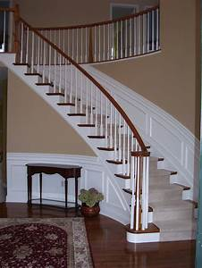 Wainscoting, Along, Curved, Stairs