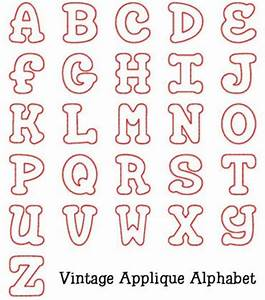 Alphabets vintage applique alphabet embroidery for Embroidered alphabet letters