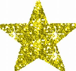 Glitter Gold Star Clipart - ClipartXtras