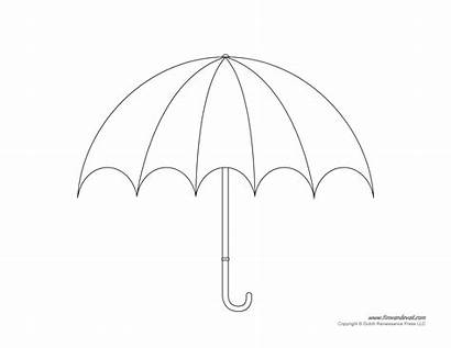 Umbrella Template Diagram Blank Clipart Clip Printable