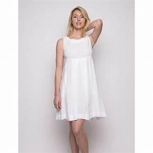 robe en lin blanche zippee dans le dos duncan With robe zippée devant
