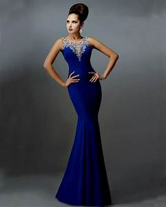 Royal Blue Wedding Dress Mermaid Compra Lotes Baratos De ...