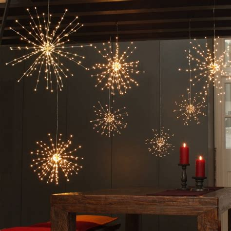 Hanging Decorations - starburst hanging light decoration battery operated