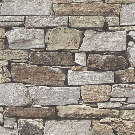 brown slate stone wallpaper departments diy  bq