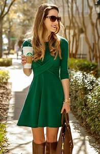 Green Dress Outfit - Oasis amor Fashion