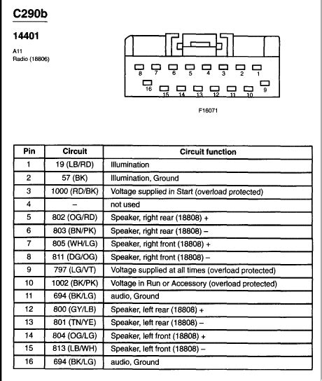 wiring diagram   factory radio