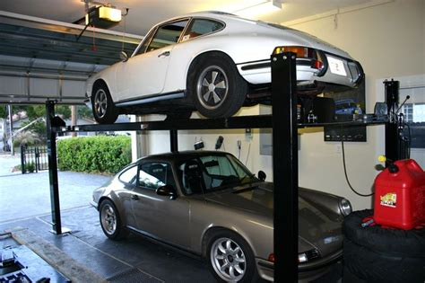 car lift for garage 4 post lift for single car garage pelican parts