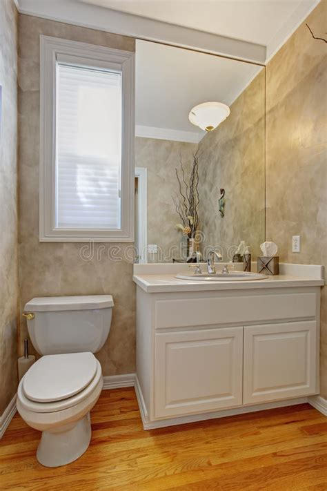 Restroom Vanity Cabinets by Restroom With White Vanity Cabinet Stock Photo Image