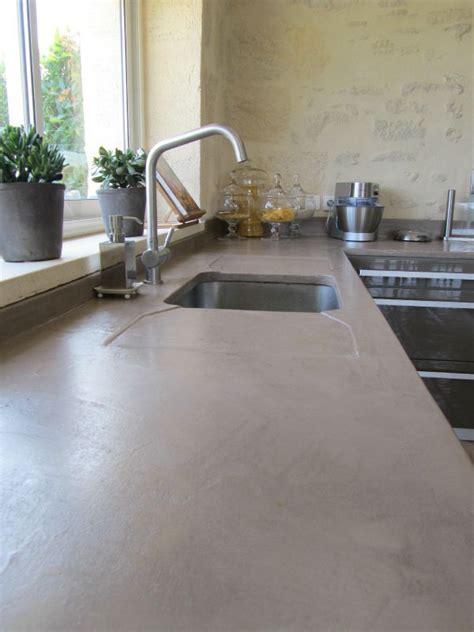 cuisine en béton ciré cuisine plan de travail en beton cire photo de beton
