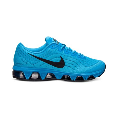nike mens air max tailwind  running sneakers  finish   blue  men lyst