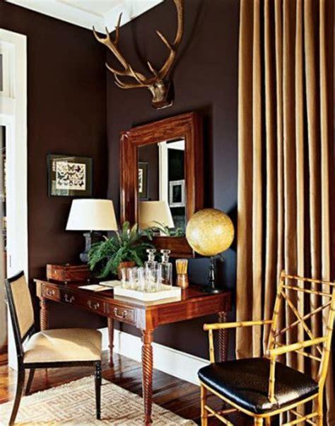 wall color brown tones warm and interior