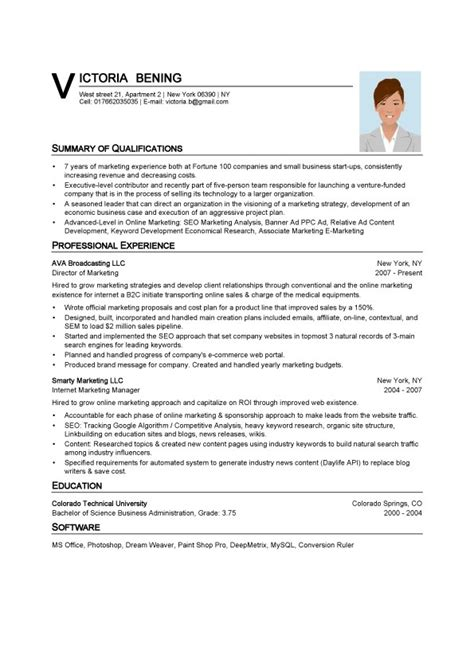 bachelor of science business administration resume