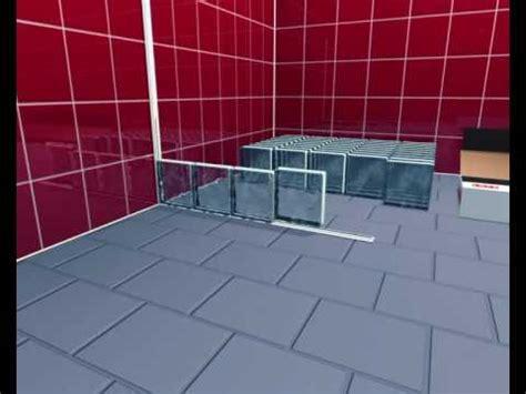 Duschtrennwand Selber Bauen by Block Lock System Montage Glasbausteine