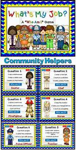 Who Am I? - Community Helpers PPT Game | Day book, Goods ...