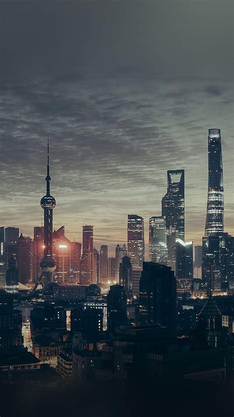 papersco iphone wallpaper nn city shanghai night
