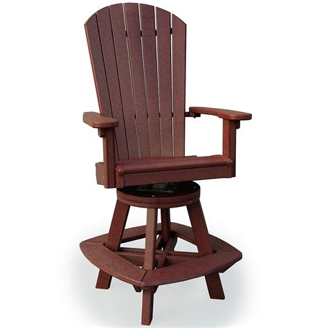 amish outdoor chairs lake glen swivel bar chair