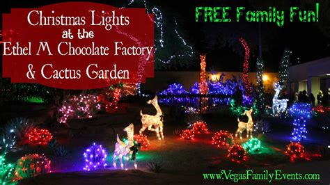 las vegas free christmas lights ethel m chocolate factory