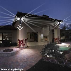 led solar aussen wand leuchte mit bewegungsmelder spot With französischer balkon mit strahler garten
