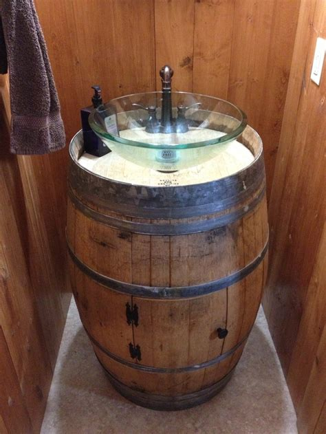 wine barrel pedestal sink barrel sink wine barrel sink