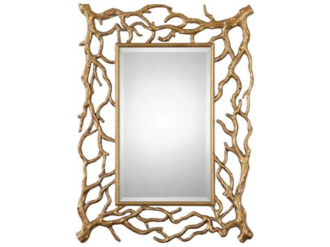 Uttermost Sequoia 30 X 40 Gold Tree Branch Wall Mirror