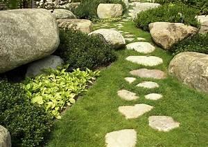 Rasen Richtig Anlegen : rasenweg in einem hanggarten trittsteinweg ~ Lizthompson.info Haus und Dekorationen
