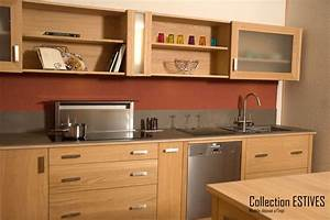 Meuble Cuisine Haut : meuble cuisine en bois massif ~ Teatrodelosmanantiales.com Idées de Décoration