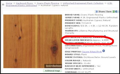 hardwood thickness chart all about wear layers engineered flooring