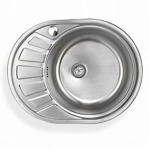 Waschbecken Mit Ablage : edelstahl einbausp le calypsosr waschbecken rechts rund ~ Lizthompson.info Haus und Dekorationen