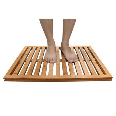 homex bamboo shower mat homex
