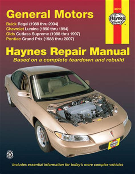 chilton car manuals free download 1988 pontiac turbo firefly windshield wipe control buick regal chevrolet lumina olds cutlass supreme pontiac grand prix haynes repair manual