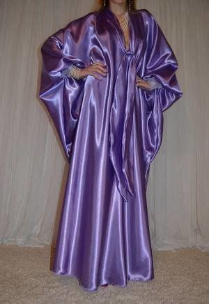 vtg satin lace slip caftan sweep robe nightgown natashas secretbetweenus