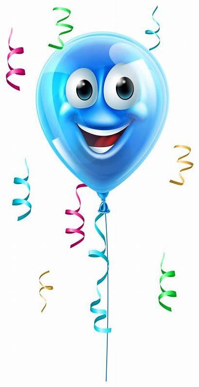 Balloon Clipart Face Balloons Birthday Smiley Cartoon