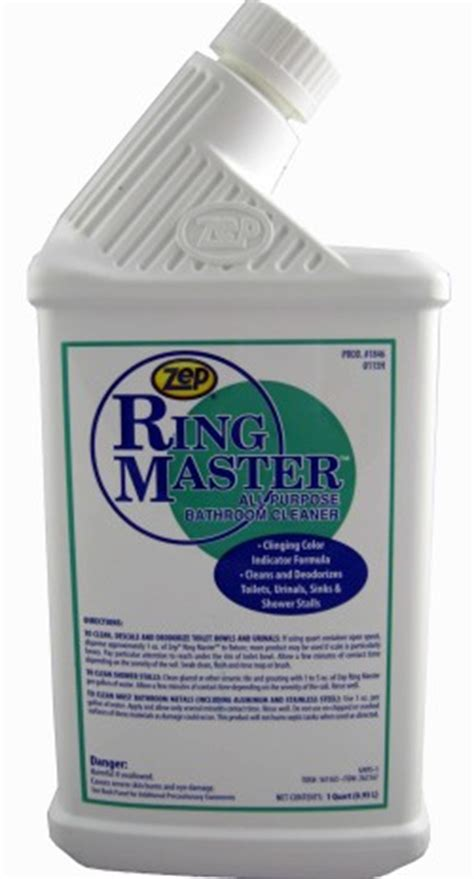 zep ringmaster bathroom cleaner ring master soap stop