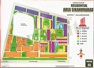 Sikandrabad Industry  Layout Plan Residential Area Sikandrabad