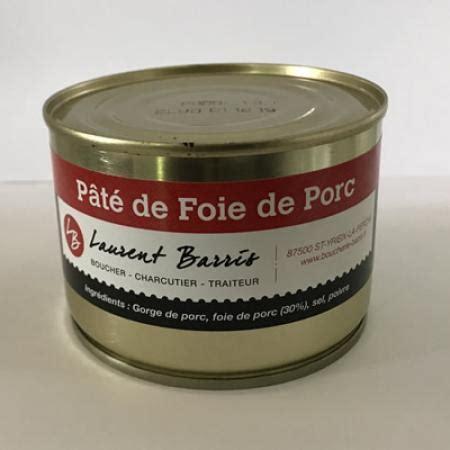 p 226 t 233 de foie de porc conserves du limousin boucherie charcuterie barris boucherie