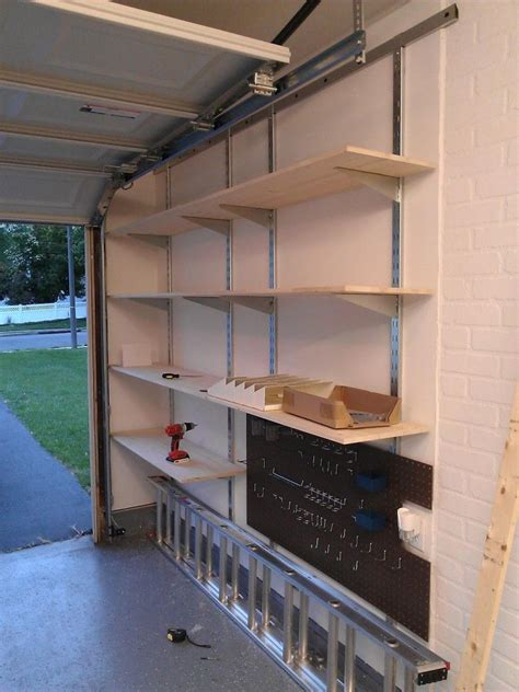 Garage Shelving Hanging by Wall Mounted Garage Shelving Wall Mounted Shelves In