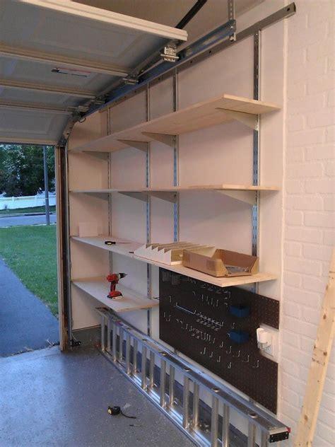 Garage Shelving Pics by Wall Mounted Garage Shelving Wall Mounted Shelves In
