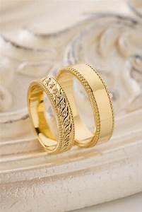 Gold wedding bands. Unique wedding bands. Matching wedding ...