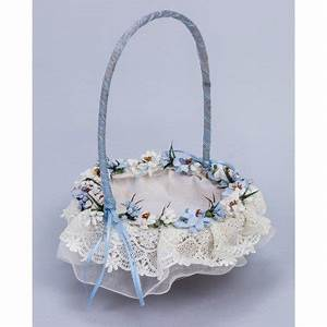 Corbeille De Fleurs Pour Mariage : corbeille mariage fleurs bleues ~ Teatrodelosmanantiales.com Idées de Décoration