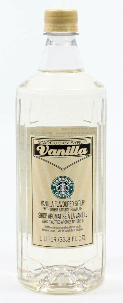 Otherwise, you'll end up with a syrupy drink that's closer. NEW Starbucks Vanilla Flavored Syrup 1 Liter 33.8 fl oz Bottle - NO PUMP | eBay