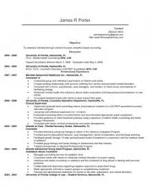 counseling internship resume template mental health counselor resume objective resume template exle