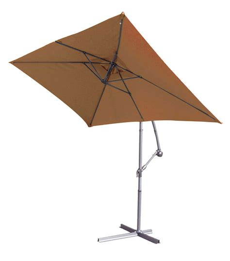 parasol structure m 233 tal 224 pied d 233 port 233 3 x 2 m terracotta